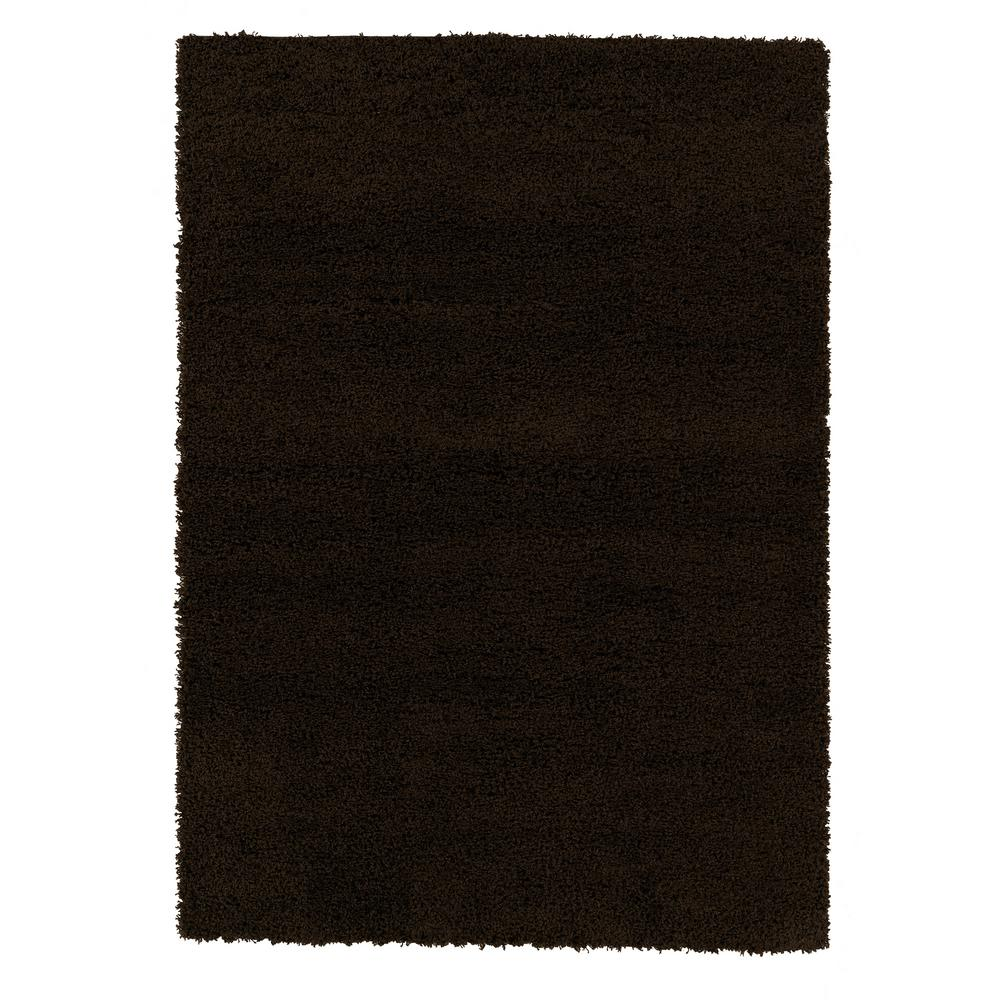 Sweet Home Stores Cozy Shag Collection Brown 5 ft. x 7 ft. Indoor Area Rug was $68.48 now $54.78 (20.0% off)