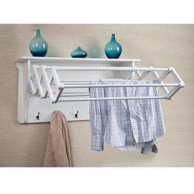 White Wall Mounted Coat Rack