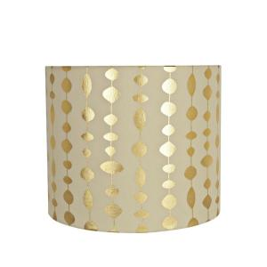 15583aa9f268 12 in. x 10 in. Beige and Gold Print Drum/Cylinder Lamp Shade · Aspen  Creative Corporation ...