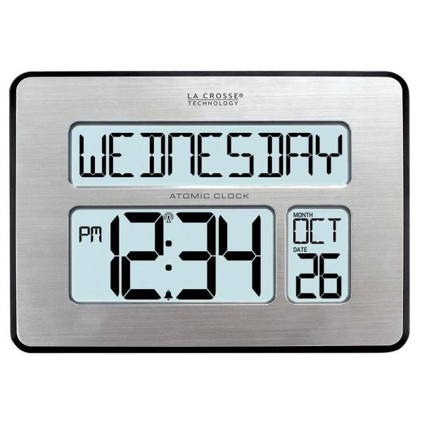 Backlight Atomic Full Calendar Digital Clock with Extra Large Digits