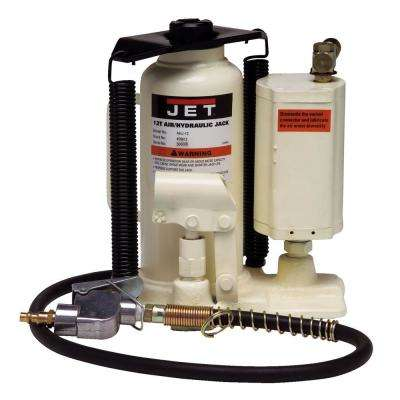 AHJ-12, 12 Ton Air/Hydraulic Bottle Jack