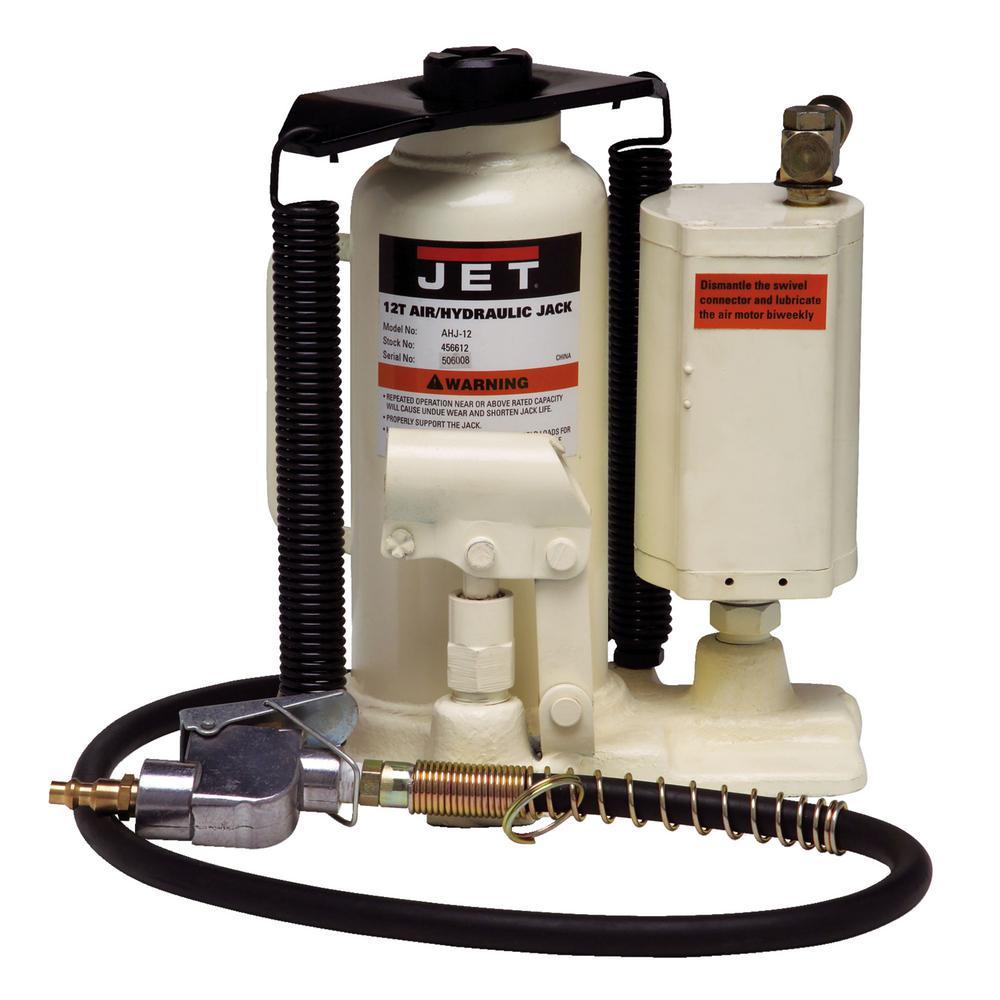 AHJ-12, 12 Ton Air/Hydraulic Bottle Jack