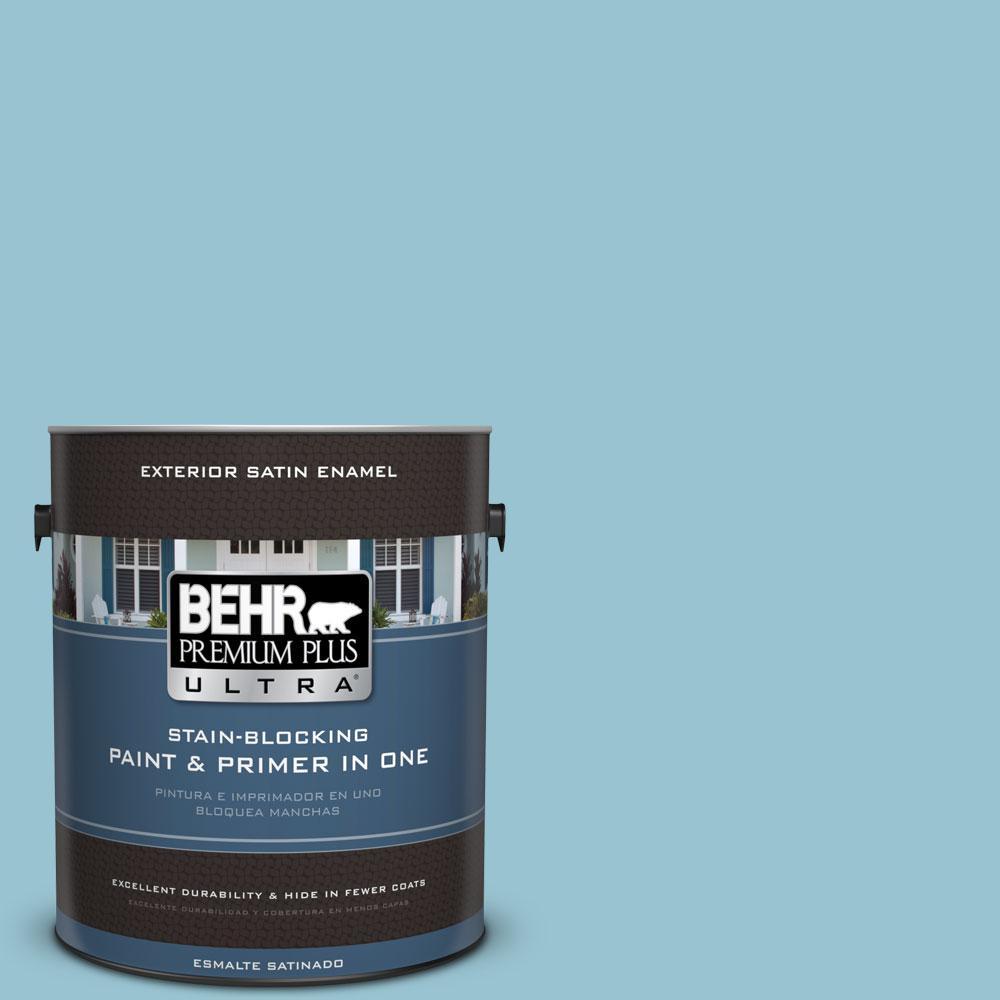 BEHR Premium Plus Ultra 1-gal. #520E-3 Velvet Morning Satin Enamel Exterior Paint
