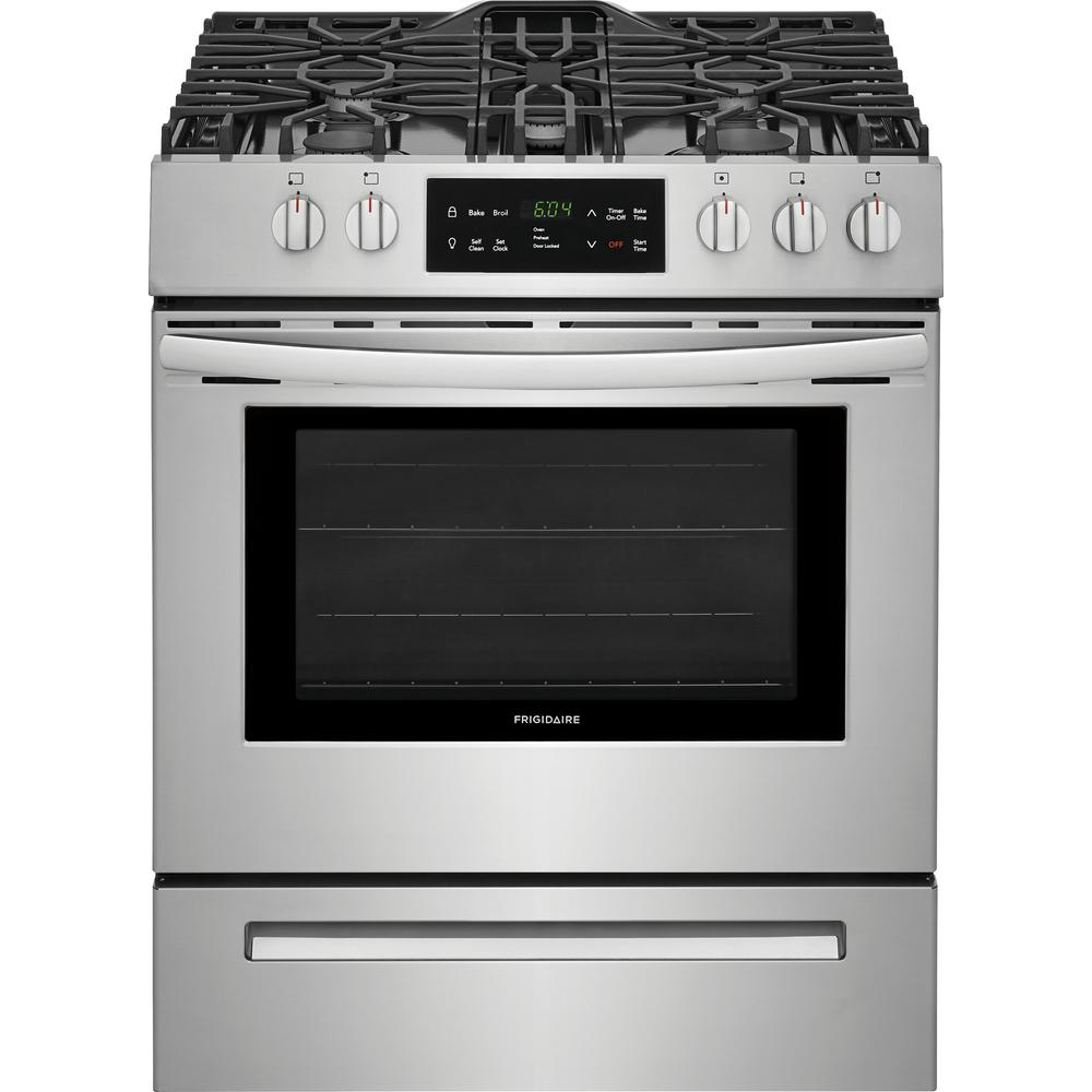 Frigidaire 30 in. 5.0 cu. ft. Single Oven Gas Range with Self-Cleaning Oven in Stainless Steel