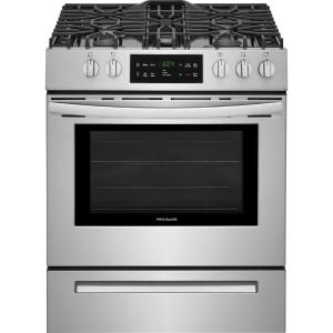 Frigidaire 30'' Front Control Self-Cleaning Stainless Steel Gas Range