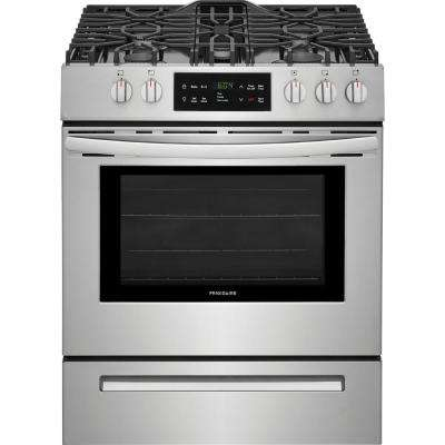 30 in  5 0 cu  ft  Single Oven Gas Range with Self-Cleaning Oven in  Stainless Steel