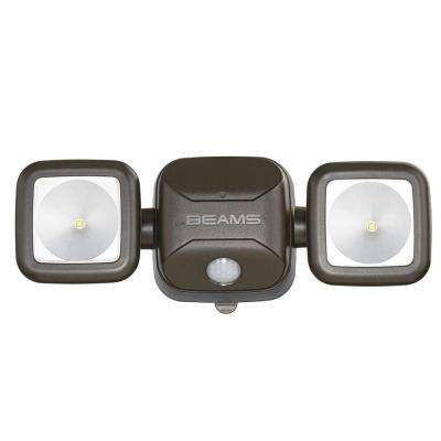 High Performance Bronze 500 Lumen Battery Operated LED Motion Security Light