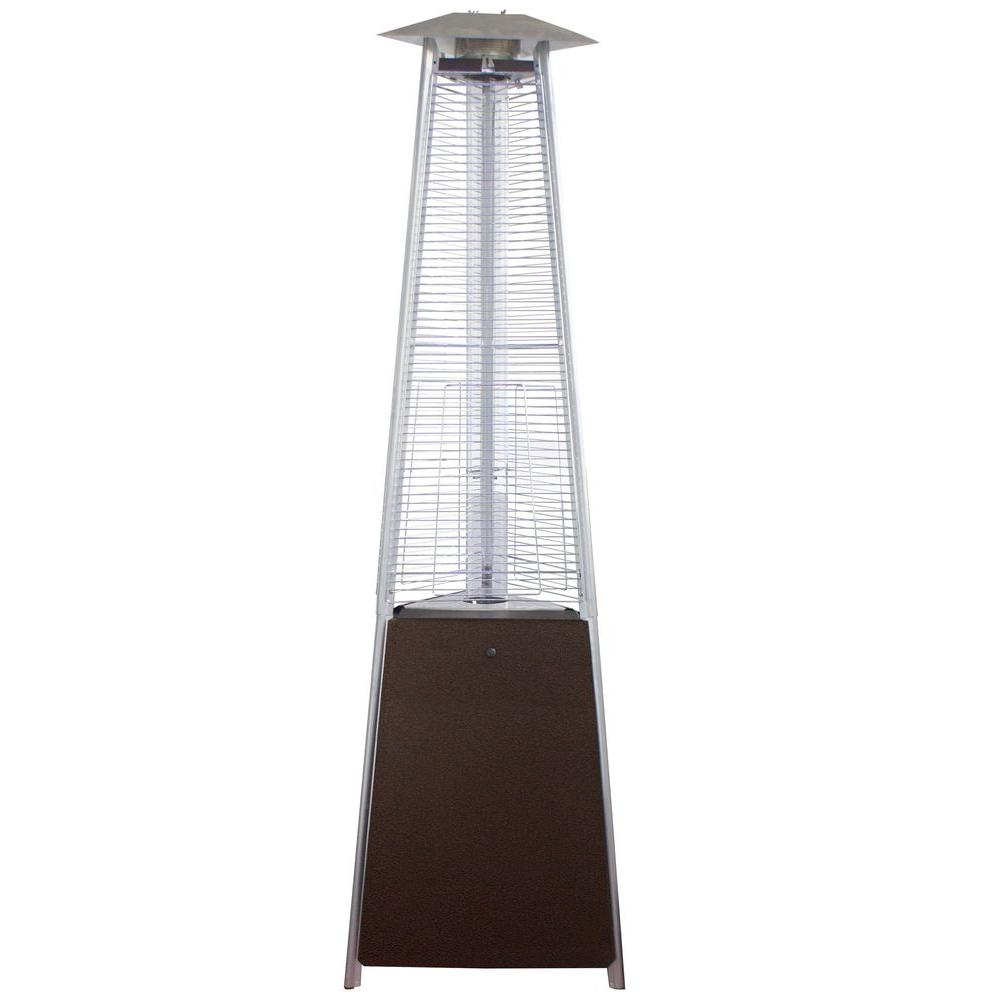 AZ Patio Heaters 38,000 BTU Commercial Hammered Bronze Quartz Tube Gas  Patio Heater