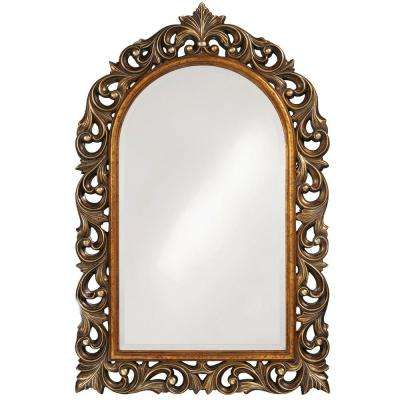 47 in. x 30 in. Antique Gold Framed Mirror