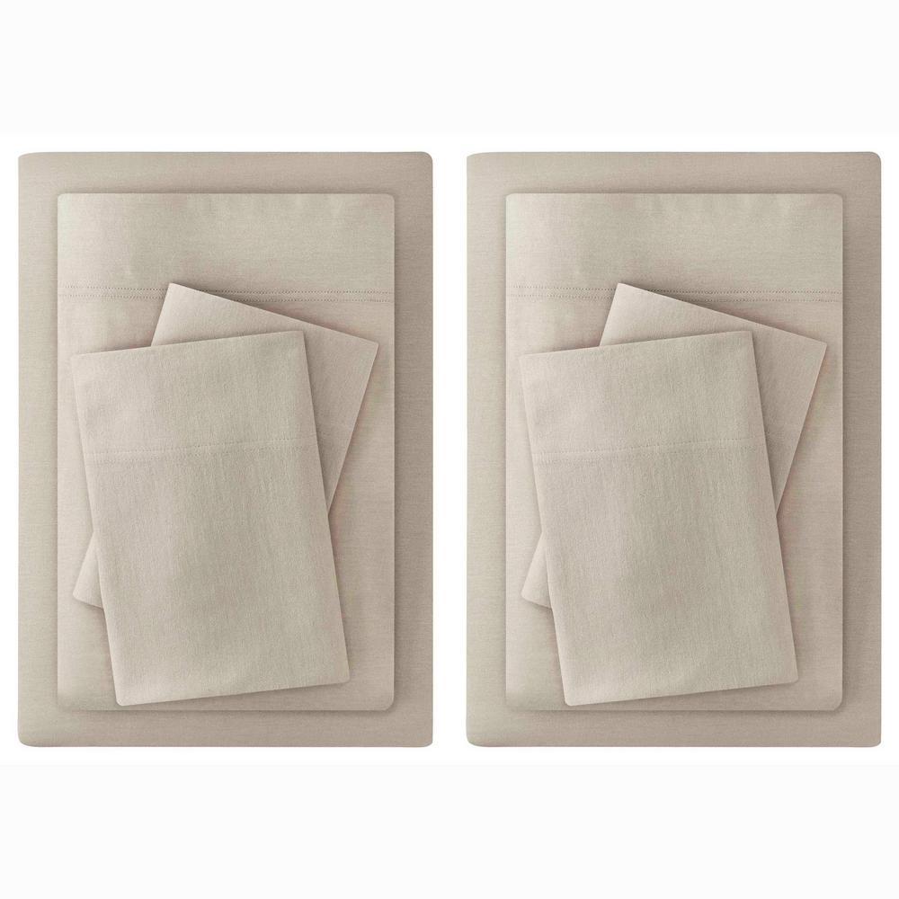 Solid Jersey Knit Sheet Set (Set of 2)
