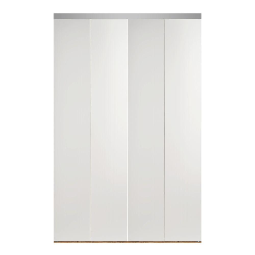 Impact plus 96 in x 80 in smooth flush solid core primed for Solid core flush panel interior doors