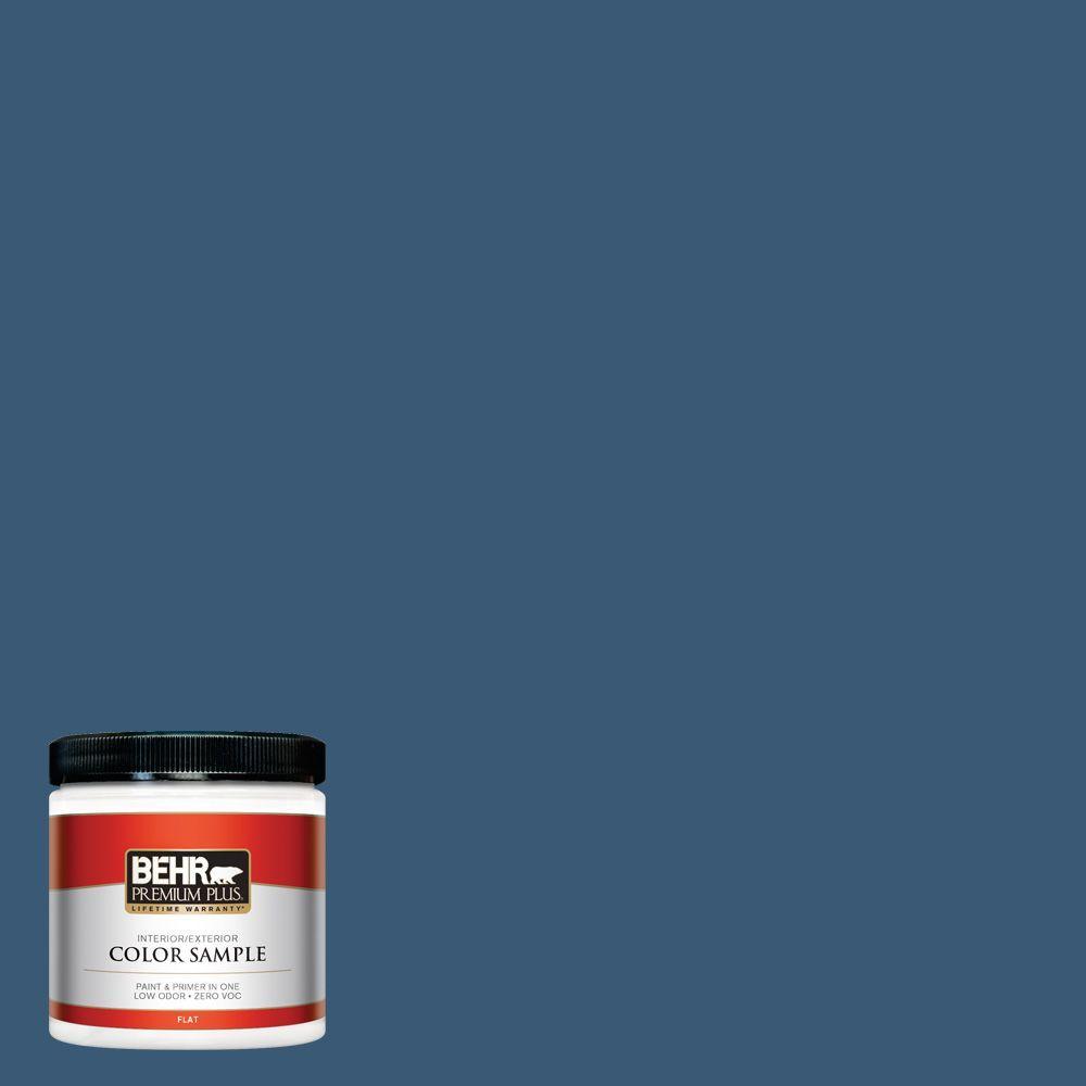 BEHR Premium Plus 8 oz. #M500-6 Express Blue Interior/Exterior Paint Sample