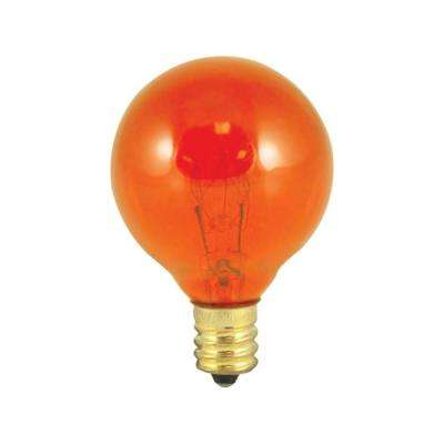 10-Watt G12 Transparent Amber Dimmable Incandescent Light Bulb (25-Pack)