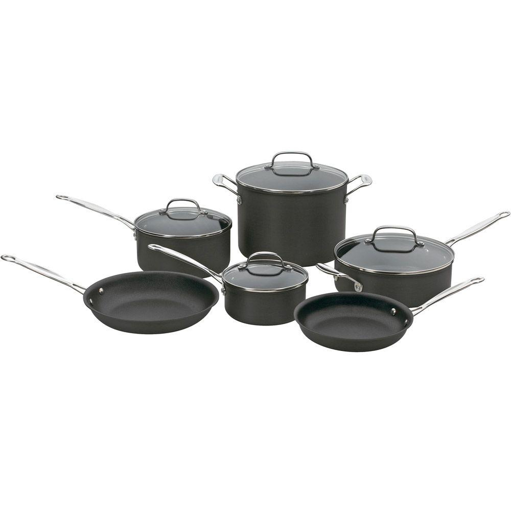 Cuisinart Chef's Classic Non-Stick Hard Anodized 10-Piece Cookware Set-DISCONTINUED