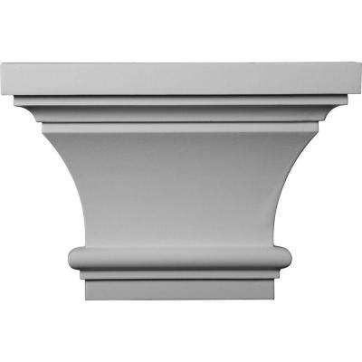 4 in. x 13 in. x 8-7/8 in. Primed Polyurethane Classic Capital