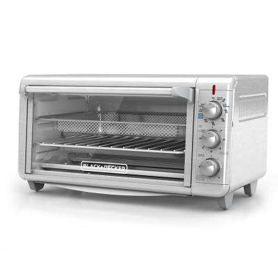 Extra Wide Crisp 'N Bake Air Fry 8 Slice Stainless Steel Toaster Oven