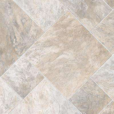 Harbor Slate Neutral 12 ft. Wide x Your Choice Length Residential Vinyl Sheet