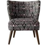 Mosaic Multi Ink Curved Armless Chair