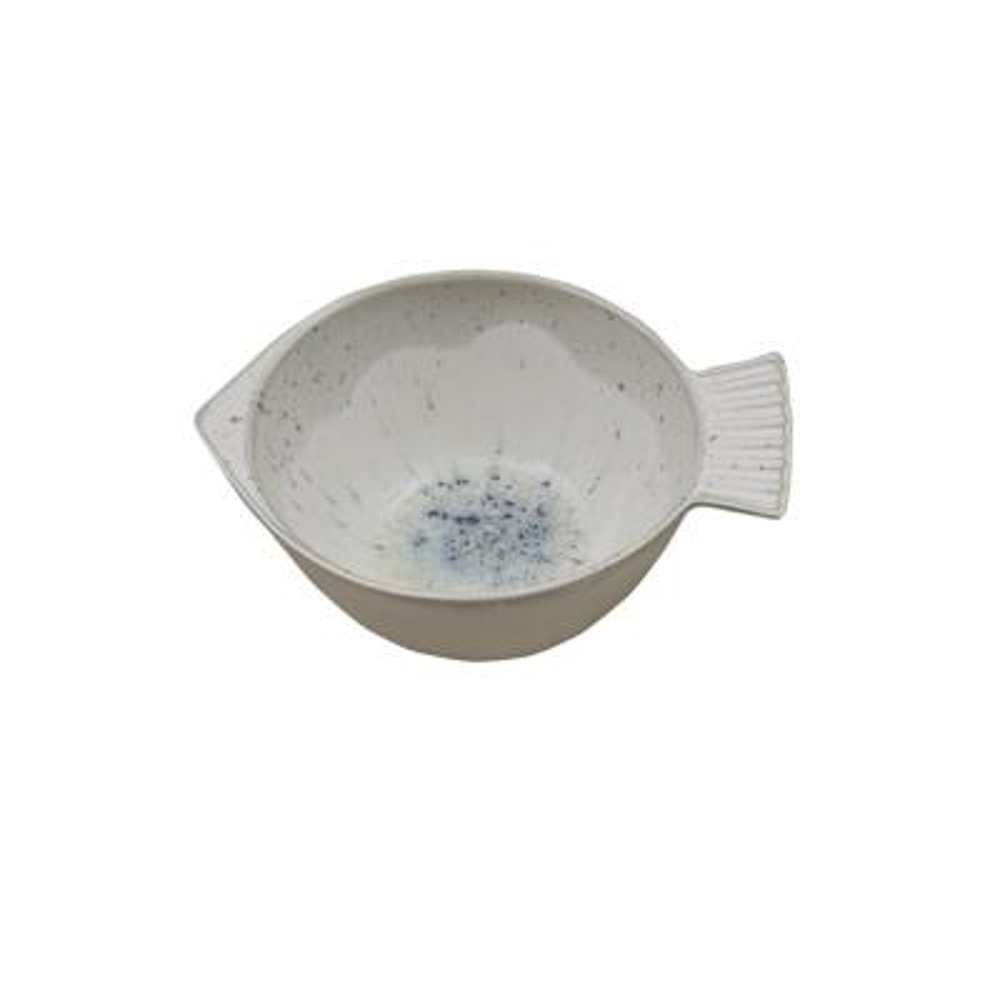 Blue Speckled Fish Shaped Bowl (Set of 4)