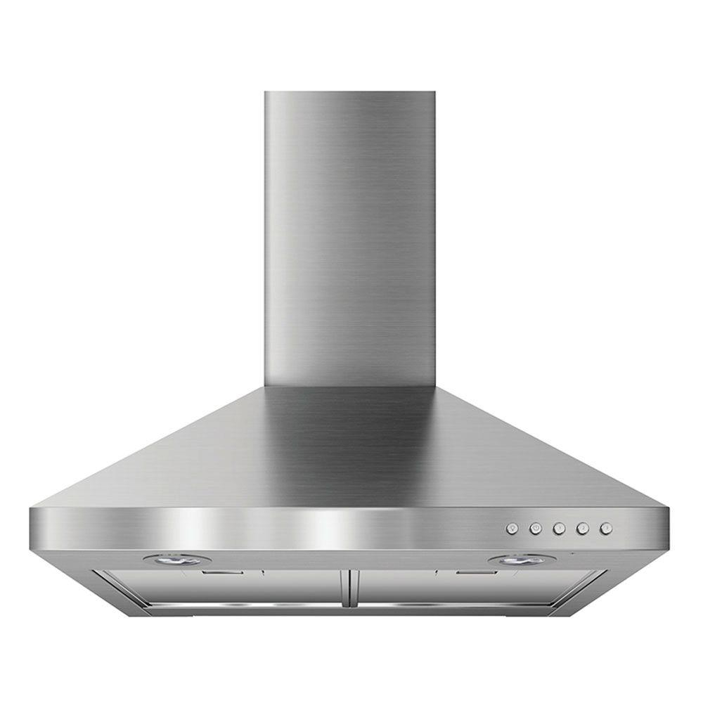 24 in. Convertible Wall Mounted Canopy Range Hood in Stainless Steel