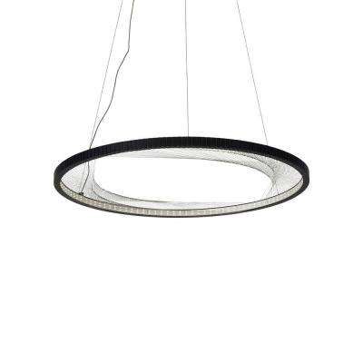 Interlace black led chandelier