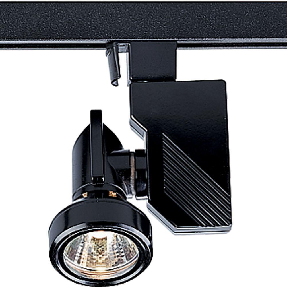 Tech Lighting Home Depot: Progress Lighting Alpha Trak Collection 1-Light Black