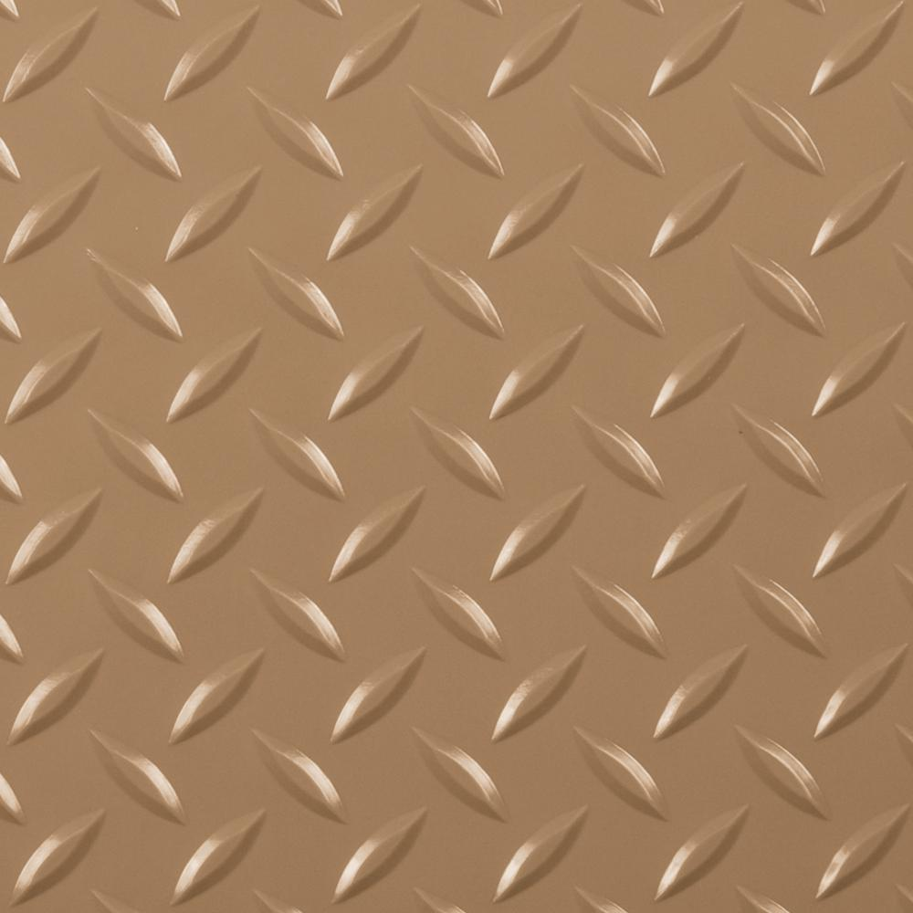 Diamond Tread 10 ft. x 24 ft. Sandstone Commercial Grade Vinyl