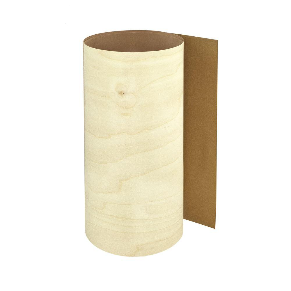 12 in. x 48 in. Natural White Birch Pre-Glued Veneer Sheet