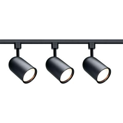 3-Light R30 Black Bullet Cylinder Track Lighting Kit