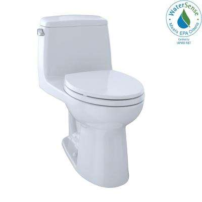 Eco UltraMax 1-Piece 1.28 GPF Single Flush Elongated Toilet with CeFiONtect in Cotton White