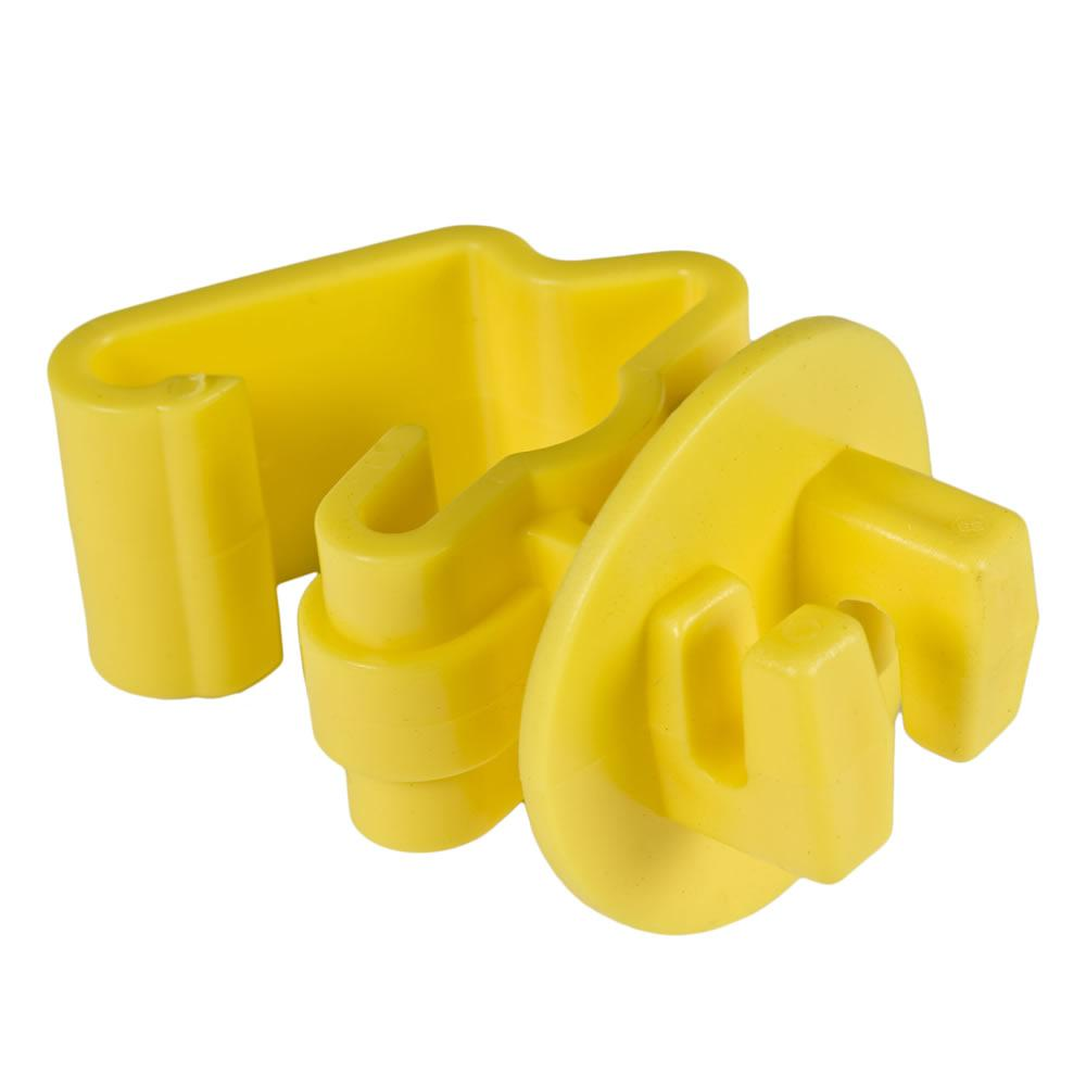 Zareba Yellow Standard Snug-Fitting T-Post Insulator (25-Per Bag)