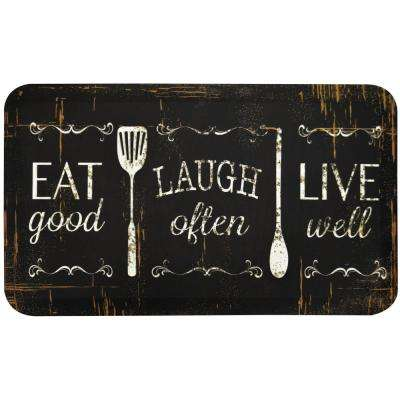 Designer Chef Eat, Laugh, Live 24 in. x 36 in. Anti-Fatigue Kitchen Mat