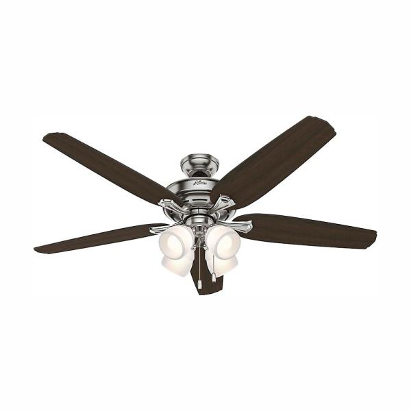 Channing 60 in. LED Indoor Brushed Nickel Ceiling Fan with Light Kit