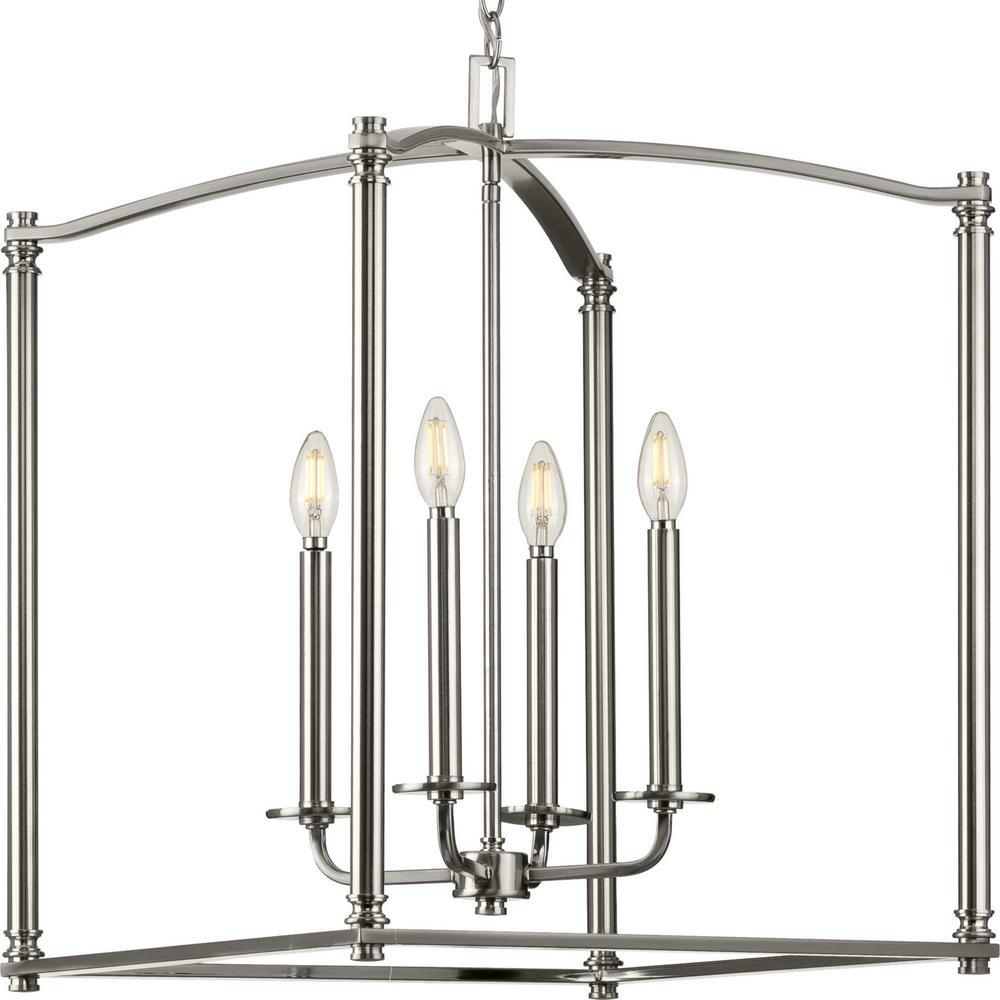 Winslett 4-Light Brushed Nickel Foyer Pendant