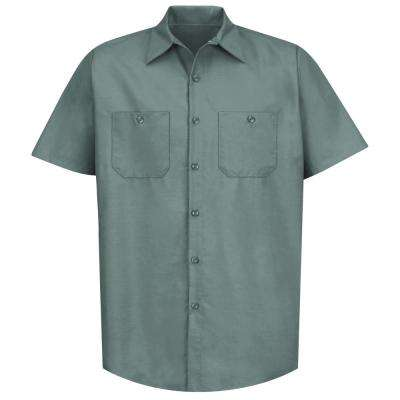 Men's Size 2XL Light Green Industrial Work Shirt