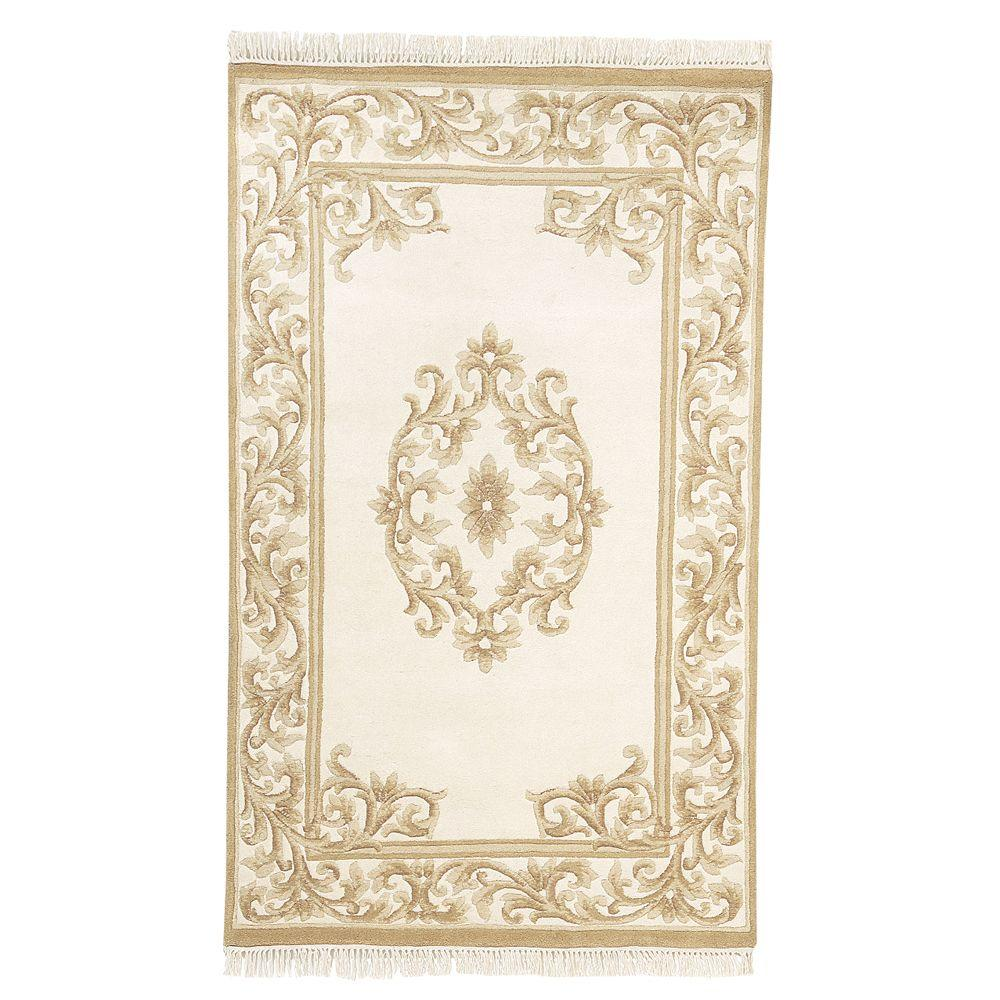 Home decorators collection filigree aubusson gold 5 ft 3 for Home decorators jules rug