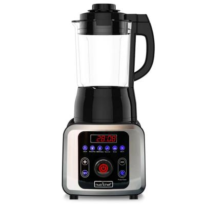 59 oz. 9-Speed Black Digital Countertop Blender with Heat, Adjustable Time/Temperature/Speed Settings