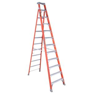 Louisville Ladder 12 ft. Fiberglass Cross Step Ladder with 300 lbs. Load... by Louisville Ladder