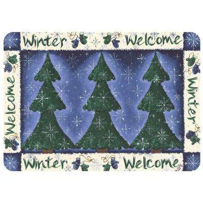 Winter Welcome 22 in. x 31 in. Polyester Surface Mat