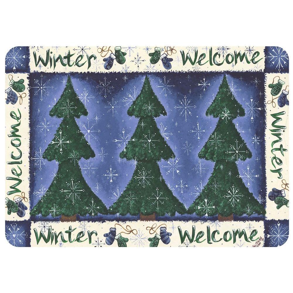 Winter Welcome 22 in. x 31 in. Polyester Premium Comfort Mat