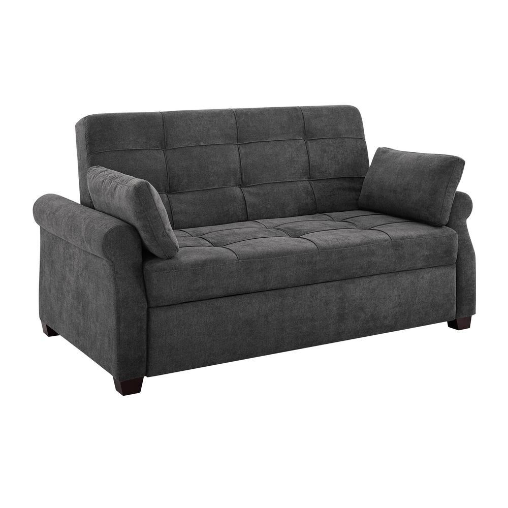 Fantastic Serta Harrington Grey Queen Convertible Sofa Sa Hptsa3Tm3011 Download Free Architecture Designs Itiscsunscenecom