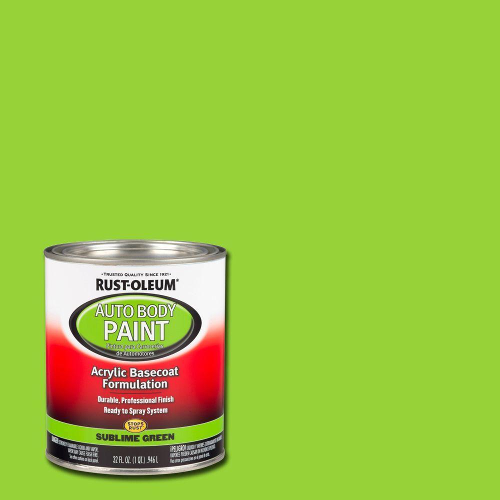 1 qt. Sublime Green Auto Body Paint (Case of 2)