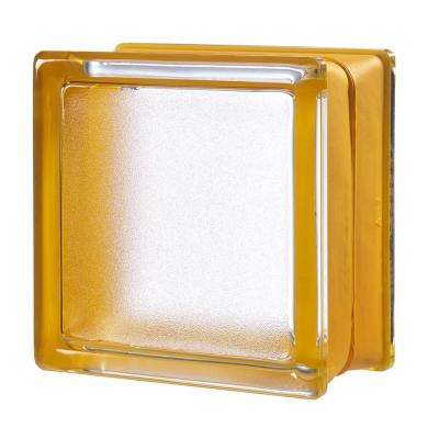Apricot 5.75 in. x 5.75 in. x 3.15 in. Classic Yellow Glass Block (6-Pack)