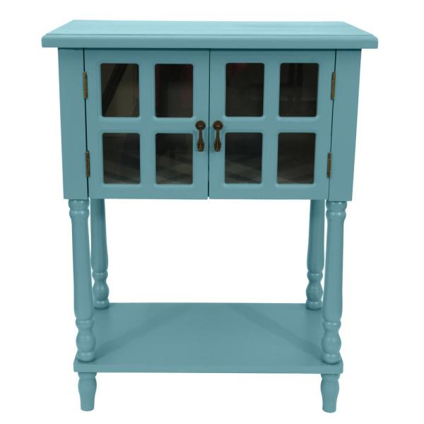 Decor Therapy Nora Robins Egg Blue Door Accent Table