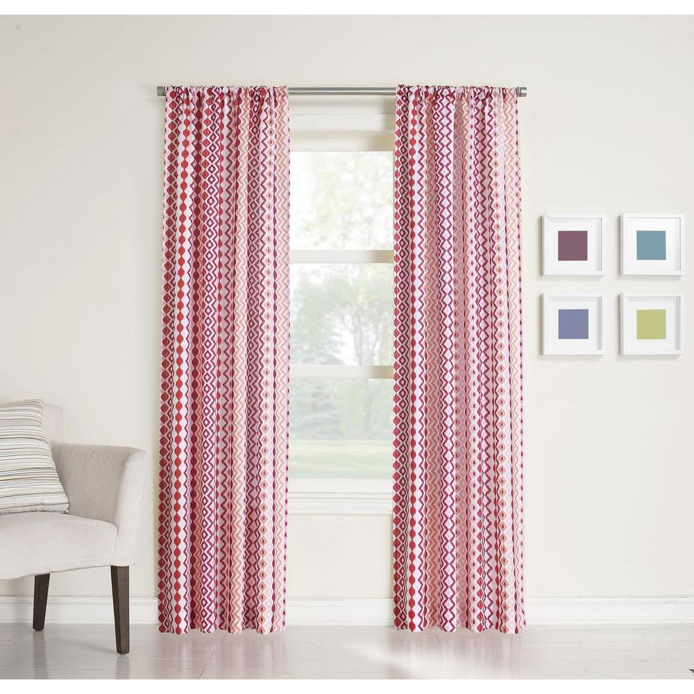 LICHTENBERG Sheer Berry No. 918 Millennial Molly Heathered Print Curtain Panel, 40 in. W x 63 in. L