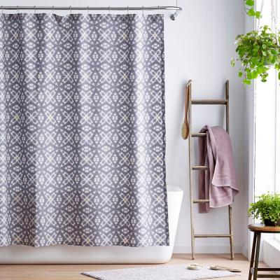 Stargaze Cotton Percale Shower Curtain