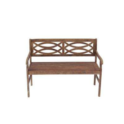 Gardena Brown Wood Outdoor Bench