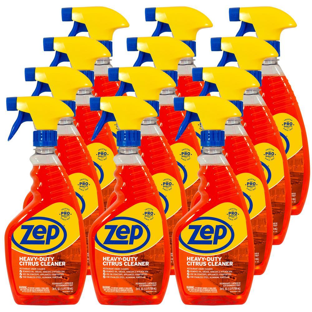 ZEP 24 oz. Commercial Heavy-Duty Citrus Degreaser (Case of 12)