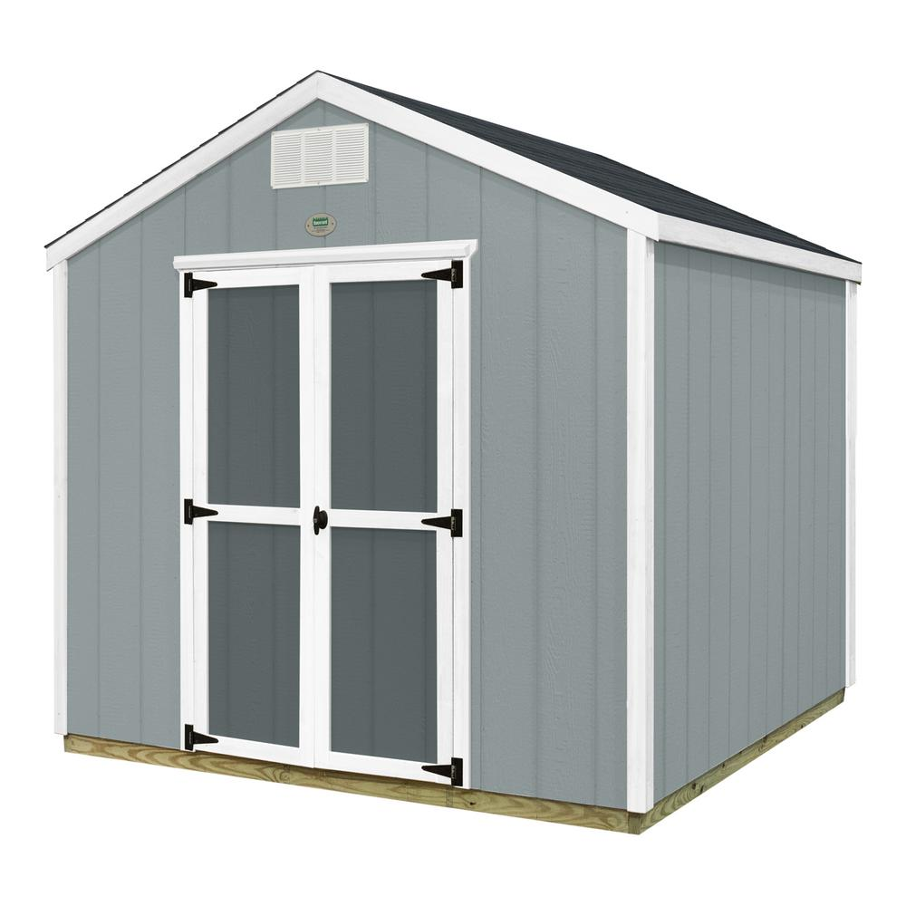 Wood sheds sheds the home depot backyard discovery prefab wooden storage shed with floor decking solutioingenieria Gallery