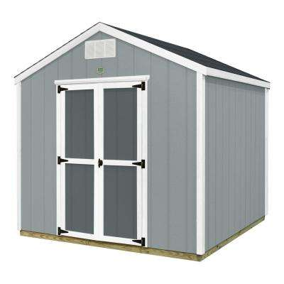 Backyard Discovery 8 ft. x 8 ft. Prefab Wooden Storage Shed with Floor Decking, Shingles and All Hardware Included
